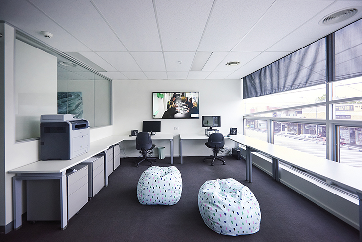 Office group room bean bags